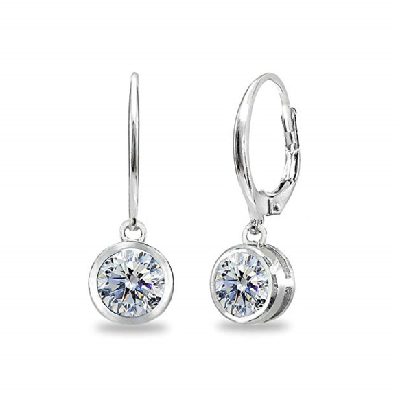 Swarovski Jewelry - Sterling Silver 6mm Dangle Swarovski Earrings